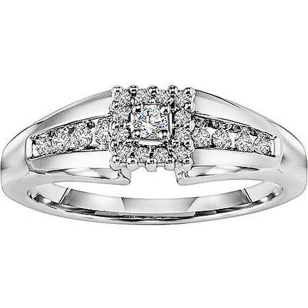 Keepsake Promise 1/5 Carat T.W. Diamond 14kt White Gold Wedding Ring