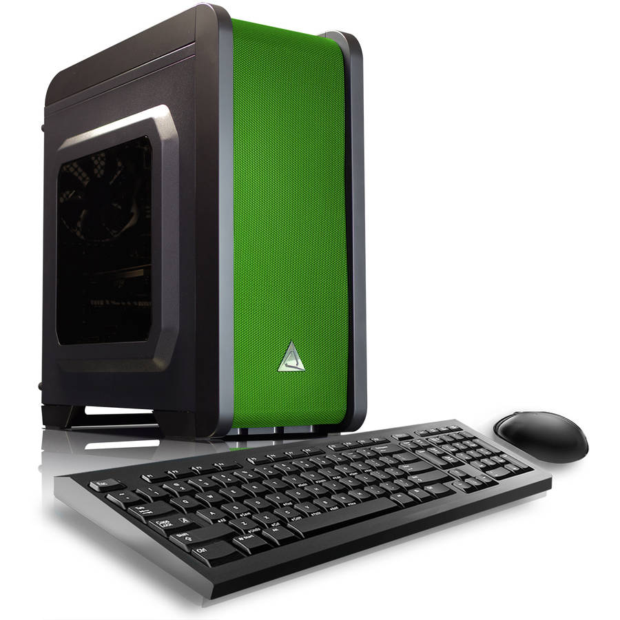 CybertronPC Green Electrum QS-A6 Desktop PC with AMD A6-7400K Processor, 16GB Memory, 1TB Hard Drive and Windows 10 Home (Monitor Not Included)