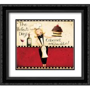 Perfect Day 2x Matted 22x20 Black Ornate Framed Art Print by DiPaolo, Dan