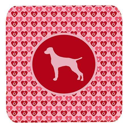 Vizsla Valentine Hearts Foam Coasters - Set 4, 3.5 x 3.5 In. - image 1 de 1