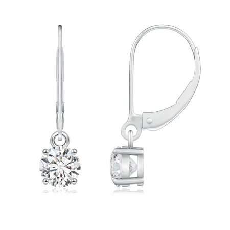 Angara April Birthstone Round Diamond Leverback Earrings In 14k White Gold 5 2mm Se0924d Wg Hsi2 2