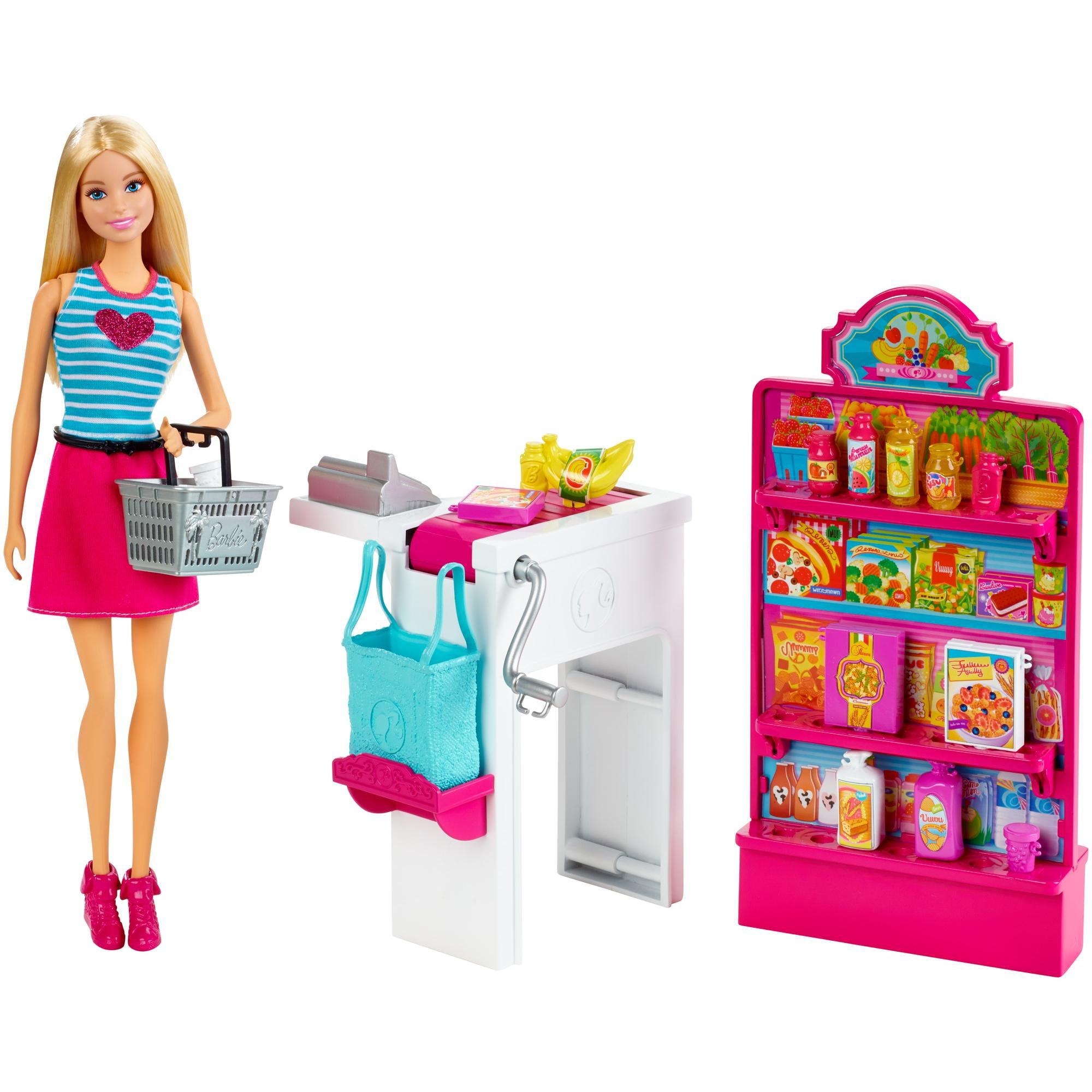 Barbie Malibu Ave Market with Doll Playset