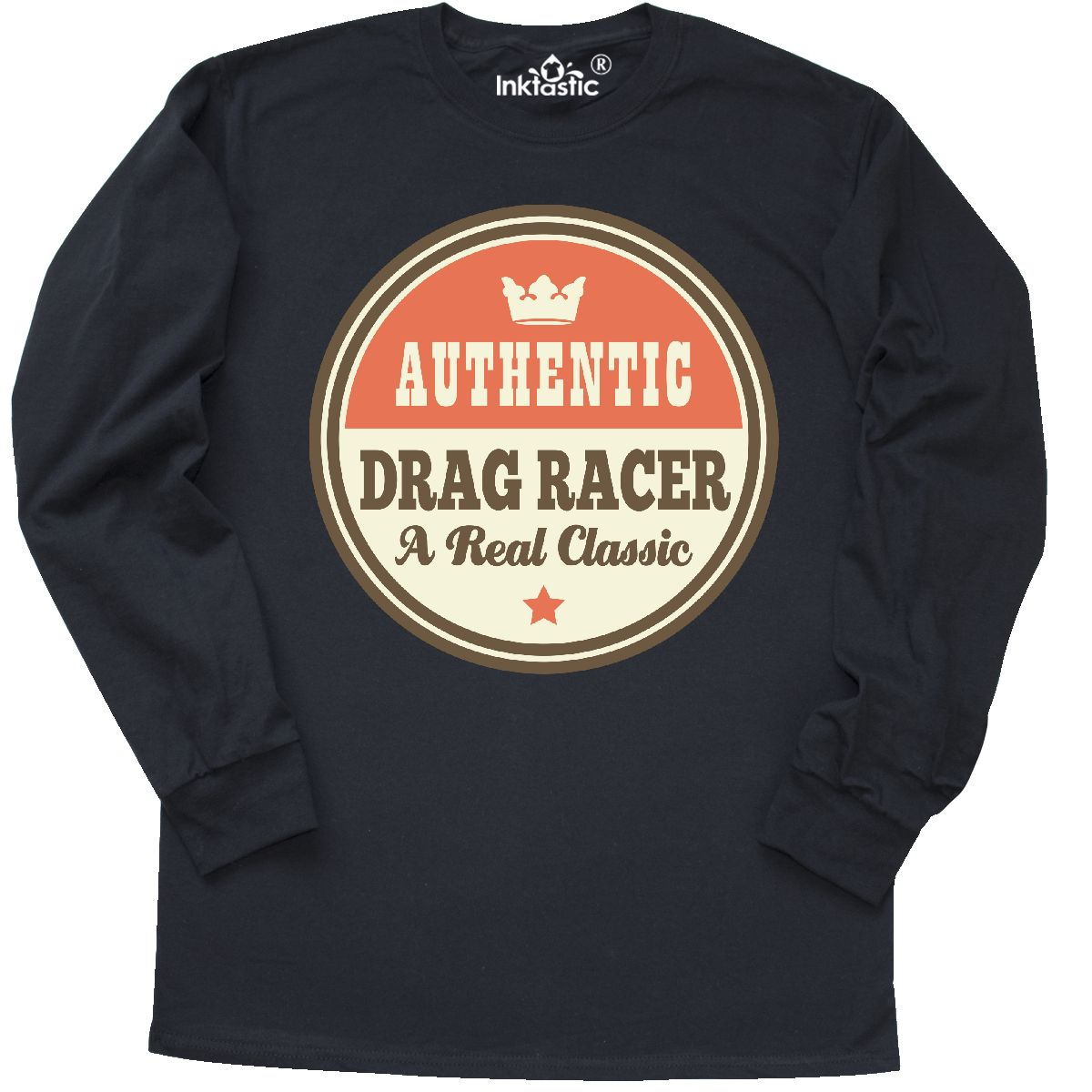 Inktastic Drag Racer Vintage Classic Long Sleeve T-Shirt Gift Retired Retirement