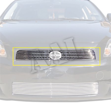 AAL BOLT ON / BOLT OVER BILLET GRILLE / GRILL INSERT For 2008 2009 2010 TOYOTA Scion TC W/ LOGO CUTOUT 1PC UPPER BOLTON