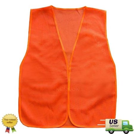 2 Pack Orange Construction Traffic Safety Vest Mesh, Orange Construction Traffic Safety Vest Mesh By WennoW - Construction Vests