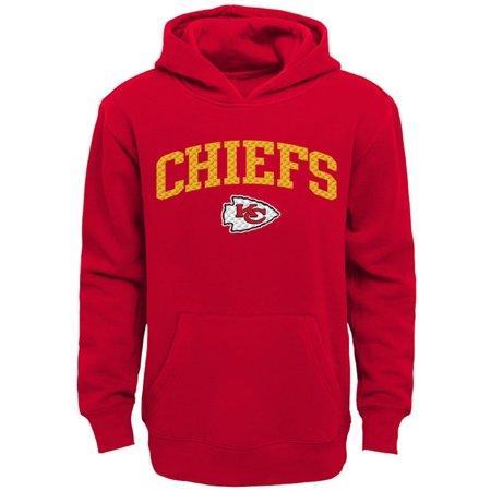 Kansas City Chiefs Hoodie Sweatshirt (Youth Red Kansas City Chiefs Clear Gel Fleece)