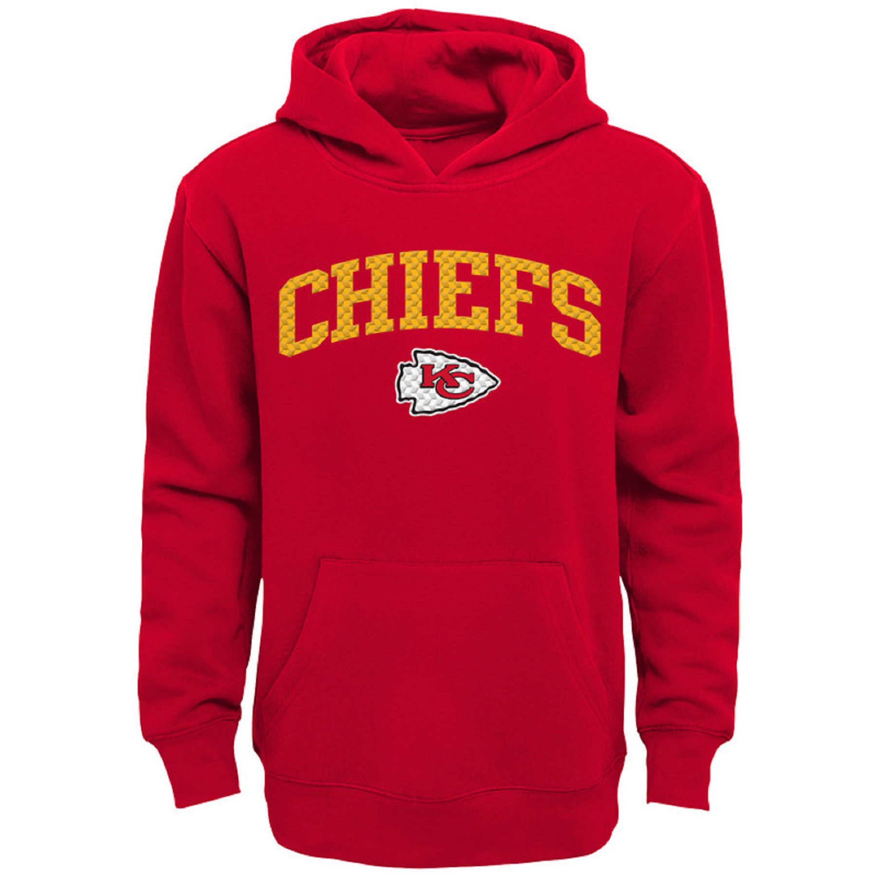 Youth Red Kansas City Chiefs Clear Gel Fleece Hoodie