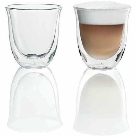 DeLonghi Double-Walled Thermo Cappuccino Glasses, Set of 2