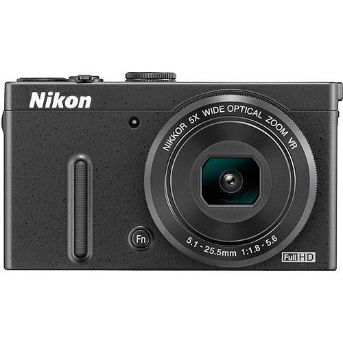 Nikon Black COOLPIX P330 Digital Camera with 12.2 Megapixels and 5x Optical Zoom