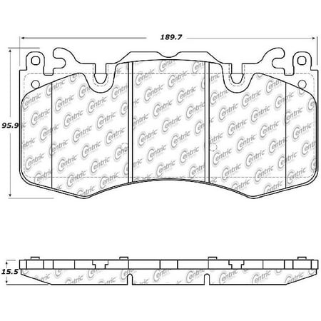 Go-Parts OE Replacement for 2010-2017 Land Rover Range Rover Sport Front Disc Brake Pad Set for Land Rover Range Rover Sport (Base /