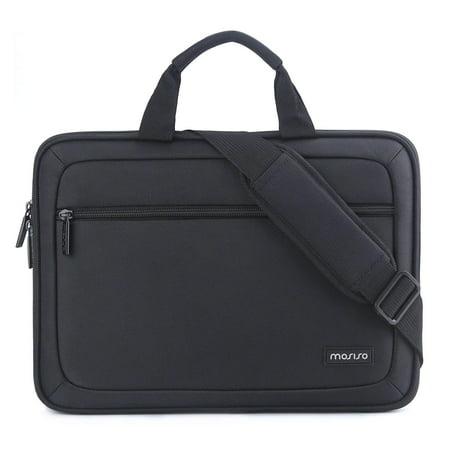 Mosiso EVA Laptop Shoulder Bag Business Briefcase for 13-13.3 Inch MacBook Pro, MacBook Air, Notebook Portable Multiuse Messenger Sleeve Unisex Shockproof Handbag with Back Belt for Trolly Case,