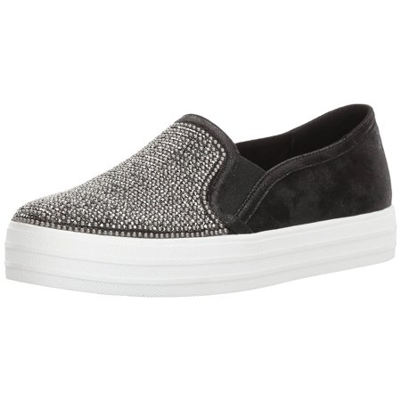 Skecher Street Women's Double up-Shiny Dancer Fashion Sneaker, Black, 7.5 M US - Cheap Exotic Dancer Shoes