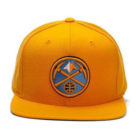 04ac8147016 Mitchell   Ness Denver Nuggets Gold Wool Snapback - Walmart.com
