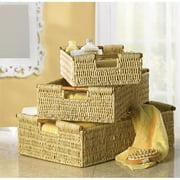 BSD National Supplies Weaved Corn Storage Nesting Baskets
