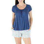 bSoft Women's Sleepwear Bamboo Jersey Short Sleeve Top and Shorts Pajama Set
