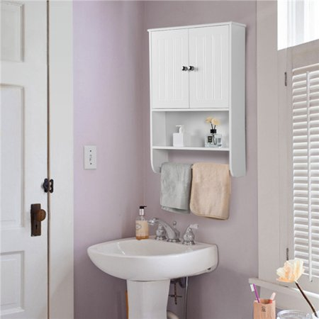 yaheetech wall mounted cabinet, bathroom storage cabinet