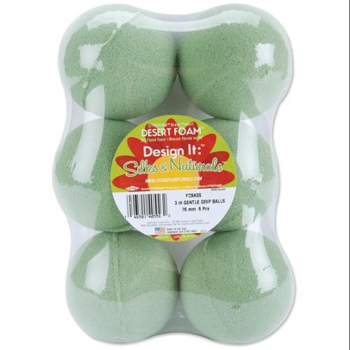 """Dry Foam Balls 6/Pkg-3"""""""