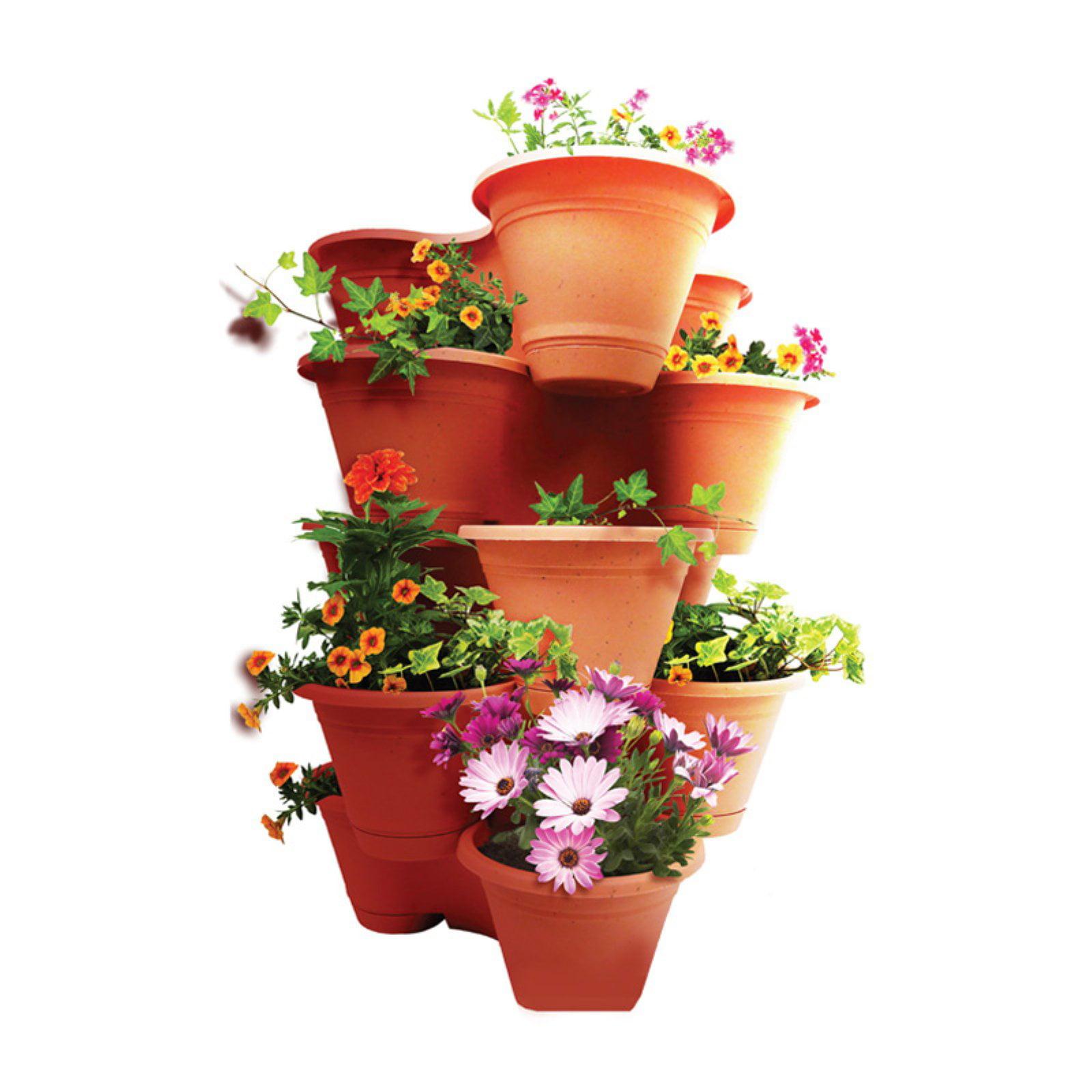 Misco Stackable Vertical Planter - Set of 4