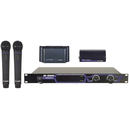 Infrared Dual Rechargeable Wireless Microphone System