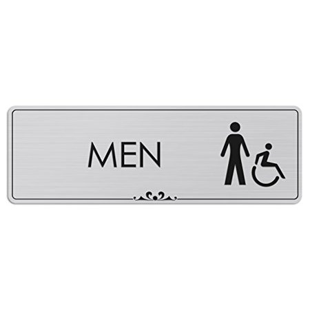Men Restroom- Laser Engraved Sign - 3