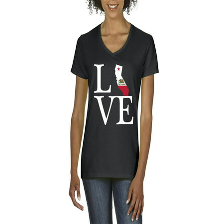 Love California Women V-Neck T-Shirt