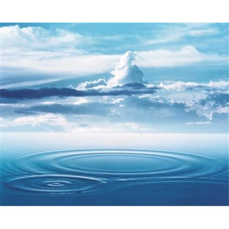 Dramatic cloud formations above rings in deep blue water Poster Print by  - 24 x 20 - image 1 of 1