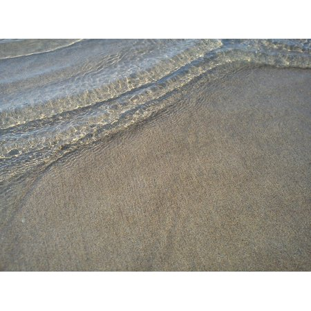 LAMINATED POSTER Grains Of Sand Wave Grains Clear Beach Sand Water Poster Print 24 x 36 - Clear Beach