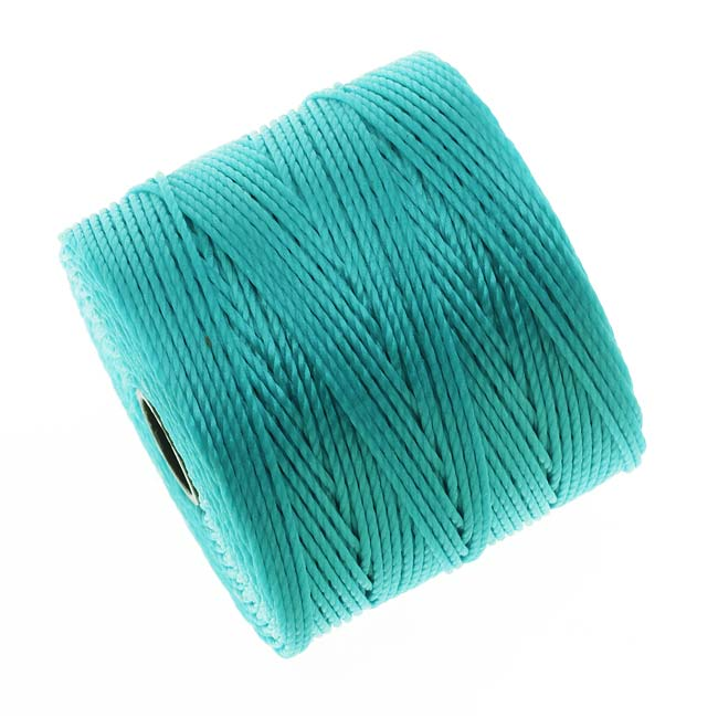 BeadSmith Super-Lon (S-Lon) Cord - Size #18 Twisted Nylon - Aqua / 77 Yard Spool