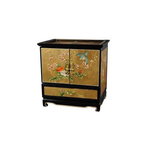 Oriental Furniture Gold Leaf Empress Jewelry Box