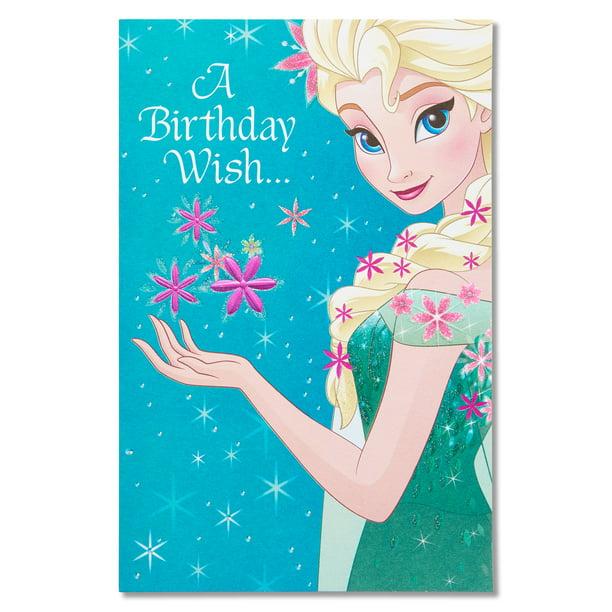 Brilliant American Greetings Frozen Birthday Card With Glitter Walmart Com Birthday Cards Printable Benkemecafe Filternl