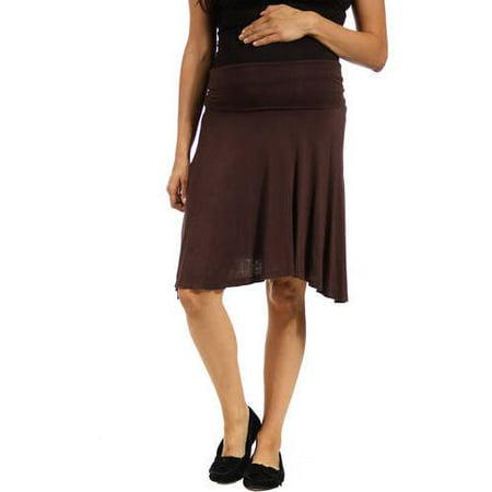 Women's Maternity Foldover - Comfy Maternity Skirt