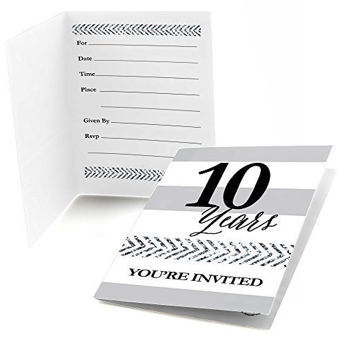 We Still Do - 10th Wedding Anniversary Fill In Invitations (8 count)