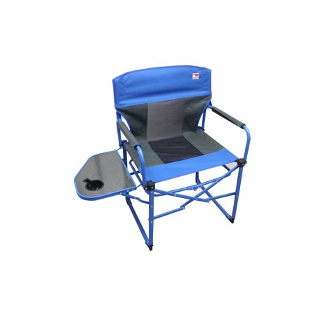 Outdoor Spectator Heavy Duty Ultra Portable Folding Director Mesh Camp Chair, Blue ()