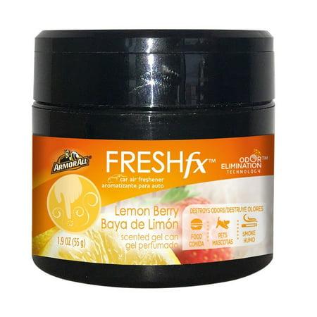 Lemon Berry - Armor All FRESHfx Car Air Freshener Scented Gel Can 1.9oz (Lemon Berry)