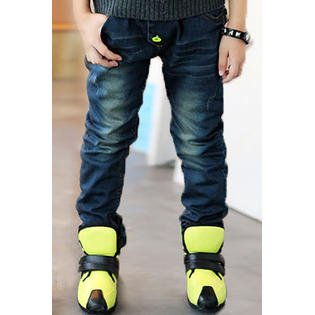 Kids Boys Printed Pocket Straight Leg Casual Jeans