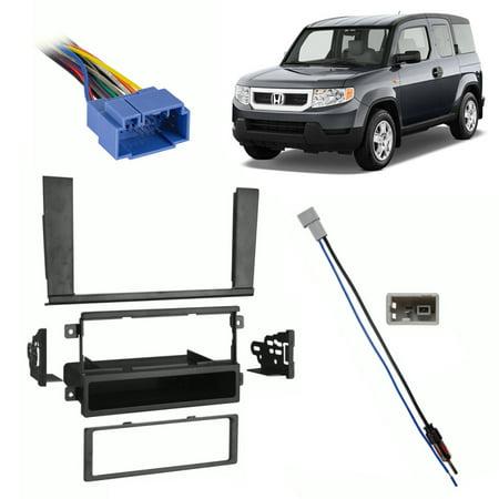 Fits Honda Element 05-11 Single DIN Harness Radio Dash Kit - Excluding - Honda Element Dash