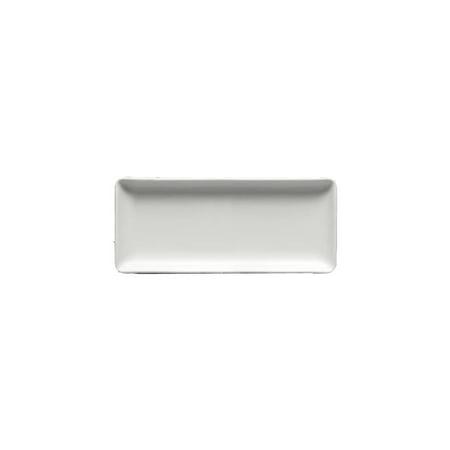 Homer Laughlin 6896000 Ameriwhite Rectangle Appetizer Plate - 12 / CS