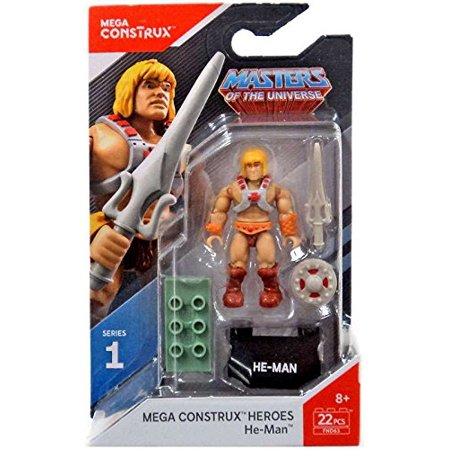 Heroes Series 1 Masters of the Universe He-Man Figure, Includes: He-Man figure, shield, sword, and base. By Mega Construx Duel Masters Base Set