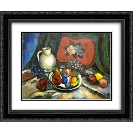 Ilya Mashkov 2x Matted 24x20 Black Ornate Framed Art Print 'Still Life with a tray, white jug and