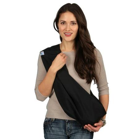 HugaMonkey Soft Cotton Carrier Adjustable Classic Black Dog Cat Pet Sling - Extra Large