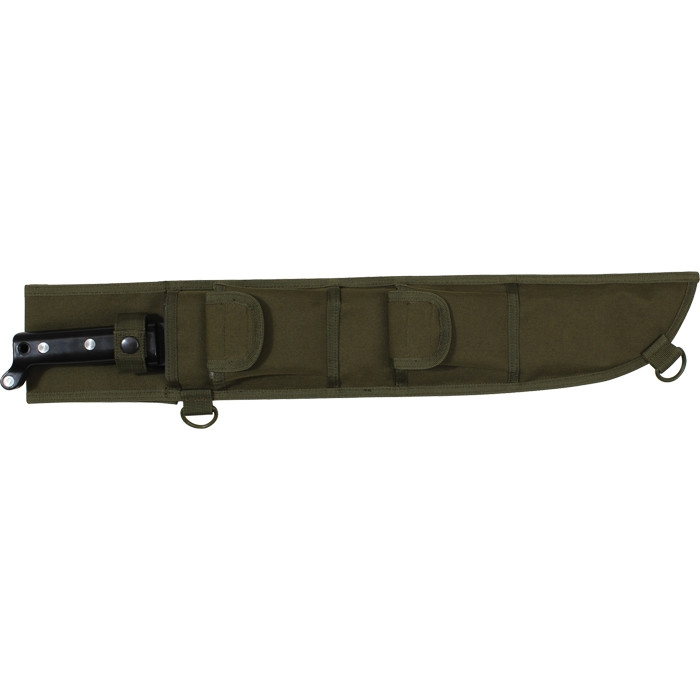Olive Drab Tactical MOLLE 18 in. Jungle Machete Sheath by BlackBeltShop