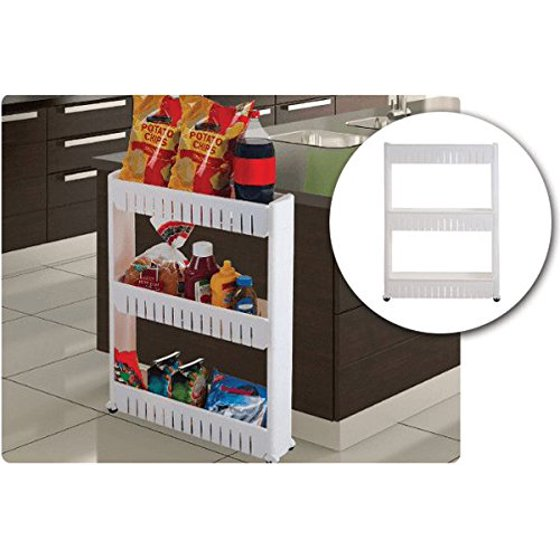 Slim Storage Cabinet Organizer Slide Out Cart Rack With