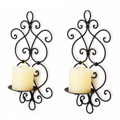 Adeco Trading Iron Sconce (Set of 2) by Overstock