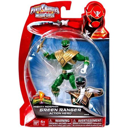Power Rangers Super Megaforce Mighty Morphin Green Ranger Action Hero Action - Power Rangers Rpm Ranger Green