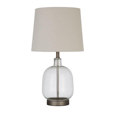 Transitional Clear Glass Table Lamp