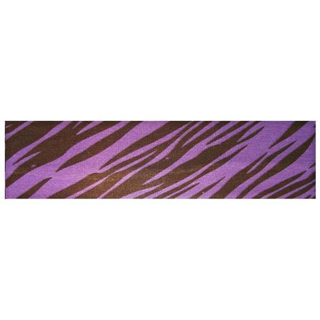Kenz Laurenz Cotton Headband Soft Stretch Headbands Sweat Absorbent Elastic Head Band Zebra Purple