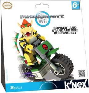 Super Mario Mario Kart Wii Bowser & Standard Bike Set