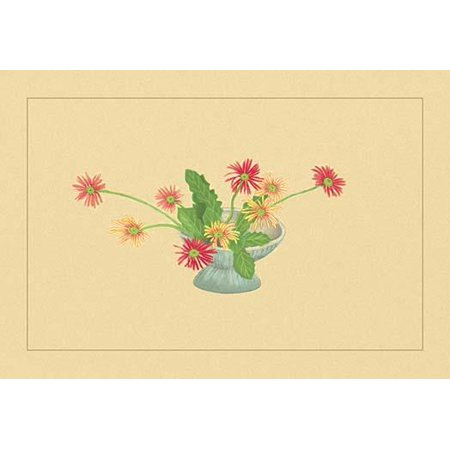 Well Cookie Arrangement (Ikebana is the Japanese art of flower arrangement  This art form is like a martial art as it uses the mind as well as form shape color of the flowers Poster Print by Sofu Teshigawara)