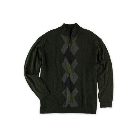 Alfani Mens Argyle 1/4 Zip Knit Sweater sprucehtr Big 2X - Big & Tall - image 1 de 1