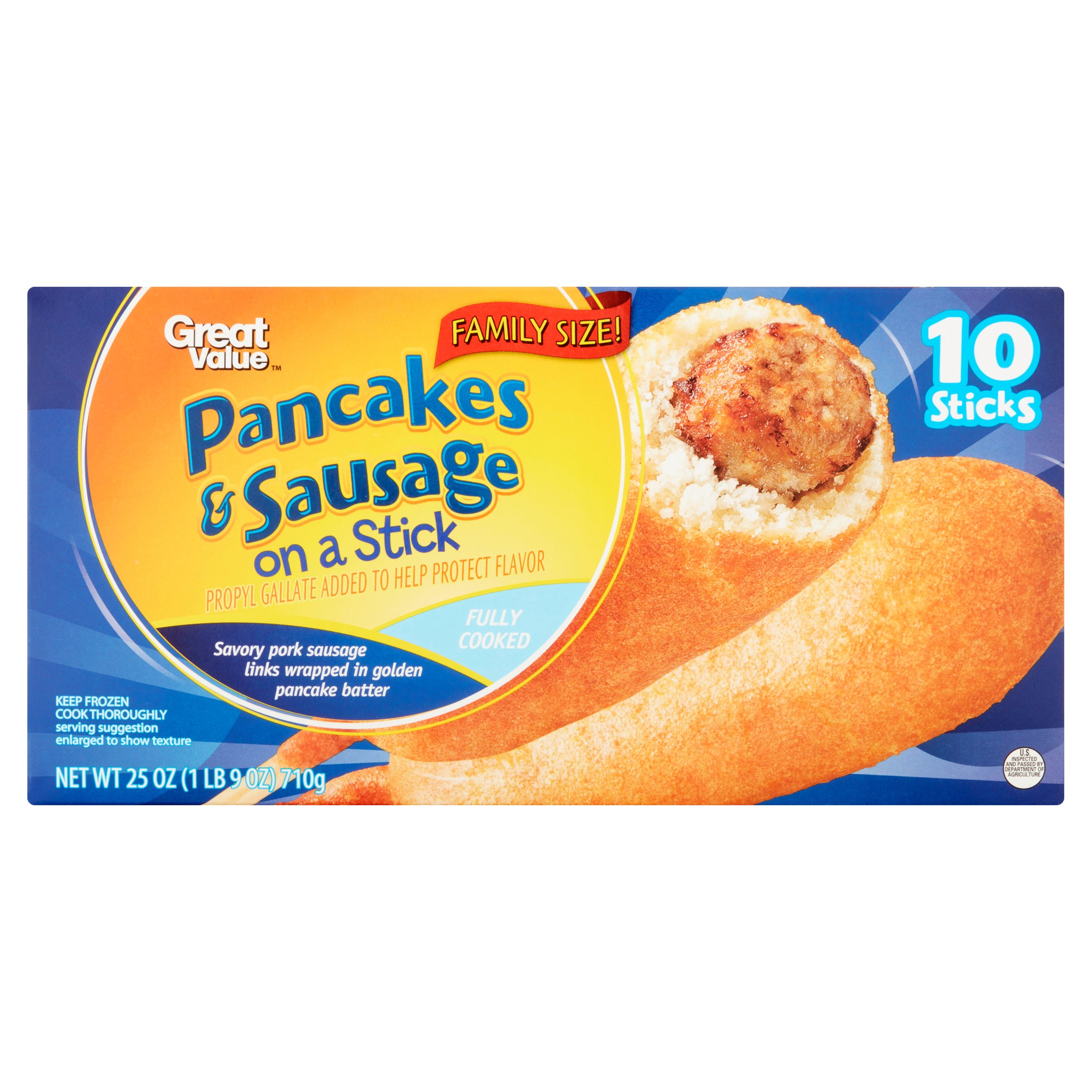 Great Value Pancakes Sausage on a Stick Family Size 10 count 25